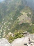 Sikt från Huayna Pichu Fotografering för Bildbyråer