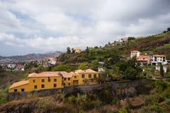 Sikt från kabel till Monte, Funchal, madeira arkivbilder