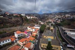 Sikt från kabel till Monte, Funchal, madeira fotografering för bildbyråer
