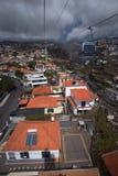 Sikt från kabel till Monte, Funchal, madeira royaltyfri bild
