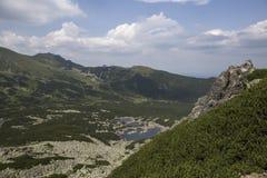 Sikt från Karb i Tatra-bergen Arkivfoton