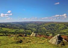 Sikt från Klocka Tor Dartmoor Arkivfoton