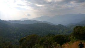 Sikt från Kodachadri den Trekking slingan Royaltyfria Bilder