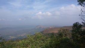 Sikt från Kodachadri den Trekking slingan Arkivfoton