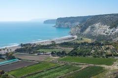 Sikt från Kourion, Cypern Royaltyfria Bilder