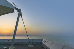 Sikt från Kuwait den vetenskapliga mitten Royaltyfria Foton