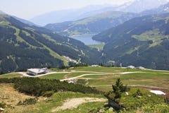 Sikt från Latschenalmen, Österrike Royaltyfri Bild