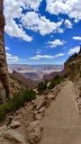 Sikt från ljusa Angel Trail på den Grand Canyon nationalparken Arizona arkivbilder