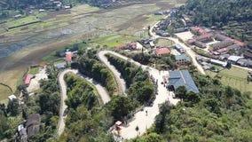 Sikt från Lung Cu, Ha Giang Royaltyfri Bild