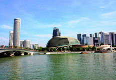 Sikt från Marina Bay Fotografering för Bildbyråer
