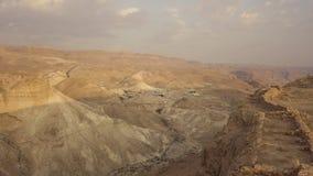 Sikt från masadafästningväggarna stock video