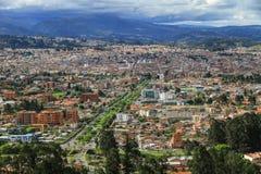 Sikt från Miradoren de Turi, Cuenca, Ecuador Royaltyfri Fotografi