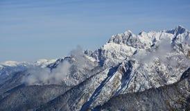 Sikt från Monte Lussari Arkivfoto