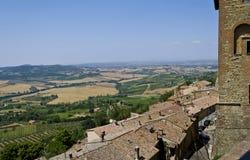 Sikt från Montepulciano - Italien Royaltyfria Bilder