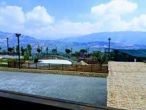 Sikt från monteringen Libanon arkivfoton