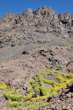 Sikt från monteringen Toubkal (4.167 metrar) Royaltyfria Foton