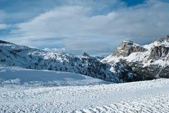 Sikt från 5na Torri till ` Ampezzo, Veneto, Italien för Cortina D Arkivbild