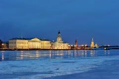Sikt från Neva River Arkivfoto