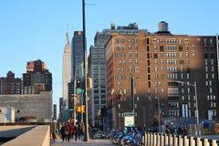 Sikt från New York den höga linjen Fotografering för Bildbyråer
