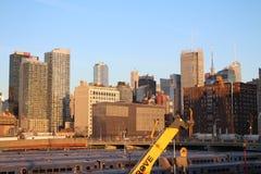 Sikt från New York den höga linjen Arkivbild