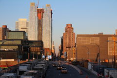 Sikt från New York den höga linjen Royaltyfria Foton