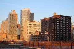 Sikt från New York den höga linjen Arkivfoto