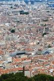 Sikt från Notre Dame de la Garde på den Marseille staden, Frankrike Royaltyfria Bilder