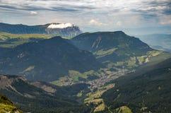 Sikt från ovannämnda - Trentino Alto Adige - Italien Royaltyfria Bilder