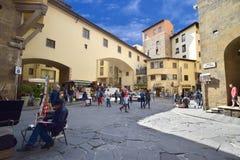 sikt från ovannämnt av den Florence staden Arkivbilder