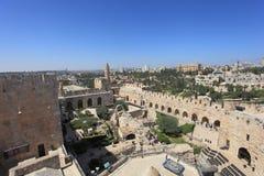 Sikt från ovannämnt av tornet av David Arkivbilder