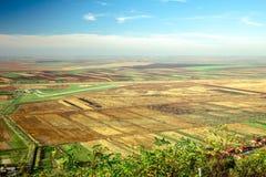 Sikt från ovannämnt på landskapet Arkivfoton