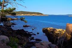 Sikt från Park för Acadia N. Arkivbild