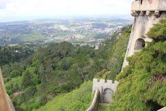 Sikt från Pena Palacy - Portugal royaltyfria bilder