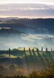 Sikt från Pienza, Tuscany, Italien Royaltyfri Fotografi