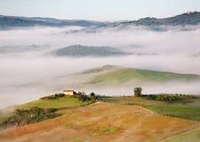 Sikt från Pienza, Tuscany, Italien Royaltyfri Foto