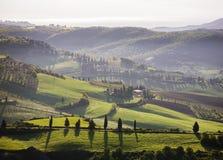 Sikt från Pienza, Tuscany, Italien Arkivfoto