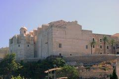 Sikt från porten Mahon till den Mahon staden Arkivbild