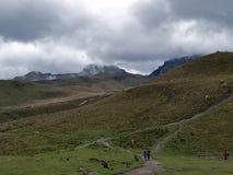 Sikt från Quito TeleferiQo Fotografering för Bildbyråer