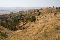 Sikt från Ridgen på fortet Robinson State Park, Nebraska arkivfoto
