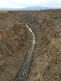 Sikt från Rio Grande Gorge Bridge Arkivfoto