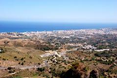 Sikt från Ronda i Andalucia Arkivfoton
