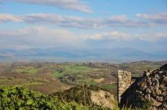 Sikt från Sant ` Oreste, Italien Royaltyfria Foton