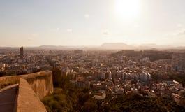 Sikt från Santa Barbara Castle av Alicante Fotografering för Bildbyråer