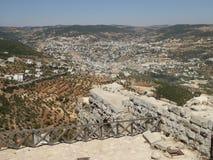 Sikt från slotten av Ajloun royaltyfria bilder