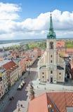 Sikt från staden Hall Tower, Torun Royaltyfri Fotografi