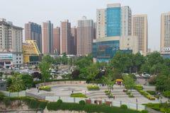 Sikt från stadsväggen Xian Royaltyfri Fotografi
