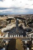 sikt från Sts Peter kupol Arkivfoto