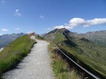 Sikt från Stubnerkogel, dåliga Gastein, Almorama, Salzburg, Österrike Royaltyfri Fotografi