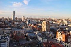 Sikt från taket Ekaterinburg Arkivbilder