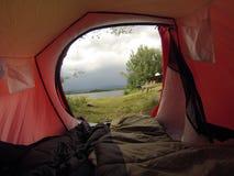 Sikt från tenten Royaltyfri Foto